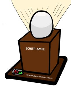 Schierlampe - Eier Prüflampe